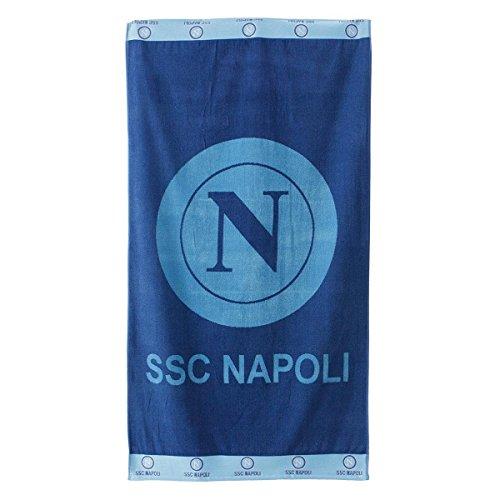 Telo mare S.S.C. Napoli dis. 2 Ufficiale 90x170 cm in Spugna di cotone P411