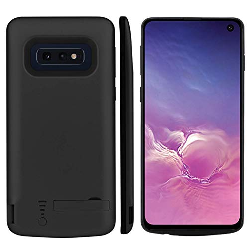 Battery Case for Samsung S10e Portable Charging Case External Battery Pack for Samsung Galaxy S10e Rechargeable Charger Case Backup Power Bank with USB Power Bank & Kickstand - 5000mAh, Black