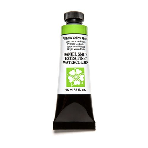 DANIEL SMITH Extra Fine Watercolor 15ml Paint Tube, Phthalo Yellow Green