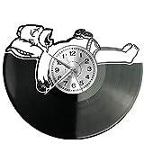 WoD Simpsons Wanduhr Vinyl Schallplatte Retro-Uhr