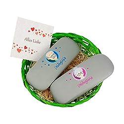 Ostergeschenk Oma Opa -Brillenetui für Oma und Opa im Osterkörbchen + GRATIS Karten- Opa Ostergeschenk – Ostergeschenk Oma – Ostergeschenke für Oma – Osterkorb Geschenk – Oma Geschenk von MyOma