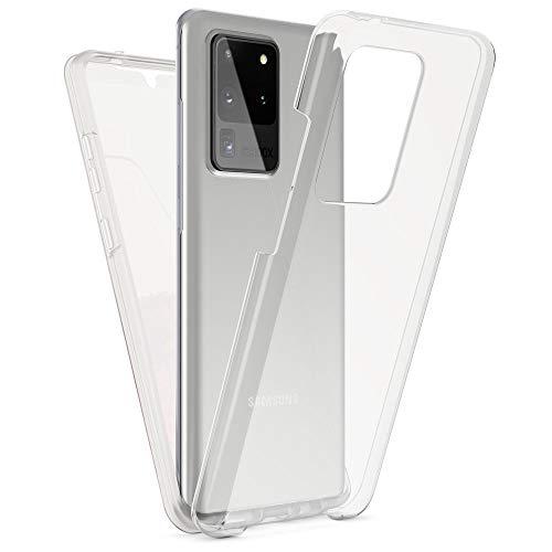Kaliroo Handyhülle 360 Grad kompatibel mit Samsung Galaxy S20 Ultra Hülle, Full-Body Schutzhülle Hardcase hinten und Bildschirmschutz vorne mit Silikon Bumper Full-Cover Hülle Komplett-Schutz - Transparent