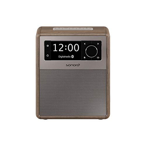 sonoro Easy Digitalradio (UKW/FM/DAB+, AUX-in, USB, Bluetooth, Wecker) Walnuss (2018)