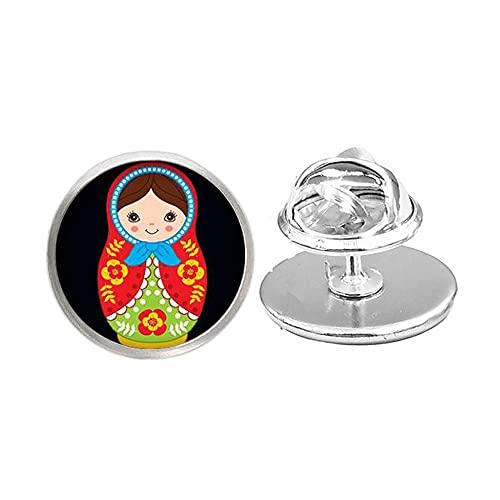 Babushkas Pin, matroyshkas Pin muñeca popular rusa Broch, matroyshka Broche muñeca coleccionista -JV213