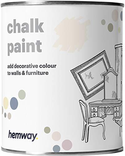 Hemway Pintura de tiza gris claro con acabado mate para pared y muebles, 1 litro, estilo Shabby Chic Vintage Chalky (50 colores más disponibles)