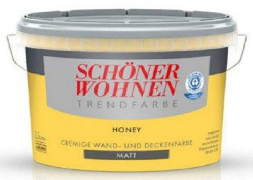2,5 Liter SCHÖNER WOHNEN FARBE Trendfarbe »honey«, matt