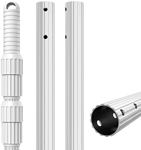UGarden 12 Foot Aluminum Telescopic Swimming Pool Pole 1 28mm Wall Thickness Adjustable 3 Piece product image