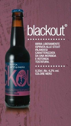 BIRRIFICIO RURALE - BLACKOUT Cerveza artesanal italiana (33 cl) - Confezione da 6 Bott.
