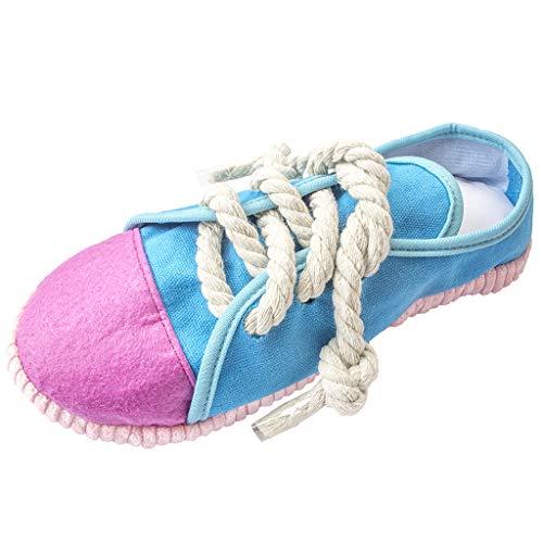 AIPINQI Quietschendes Kauspielzeug für Hunde, langlebig und sicher, Hundespielzeug, lustige Schuhe, Sound-Spielzeug für kleine und mittelgroße Haustiere (blau)
