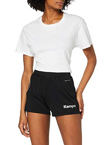 Kempa Damen Curve Shorts Women Hose, schwarz/Weiß, S