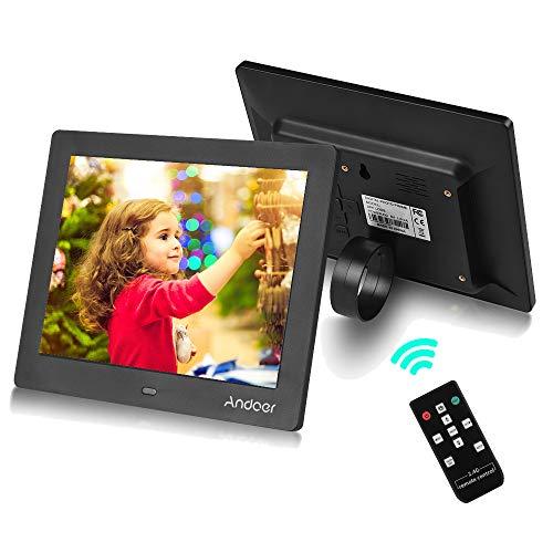 clasificación y comparación Admite el marco de fotos digital Andoer de 8 pulgadas, el marco de fotos con control remoto inalámbrico 2.4G … para casa