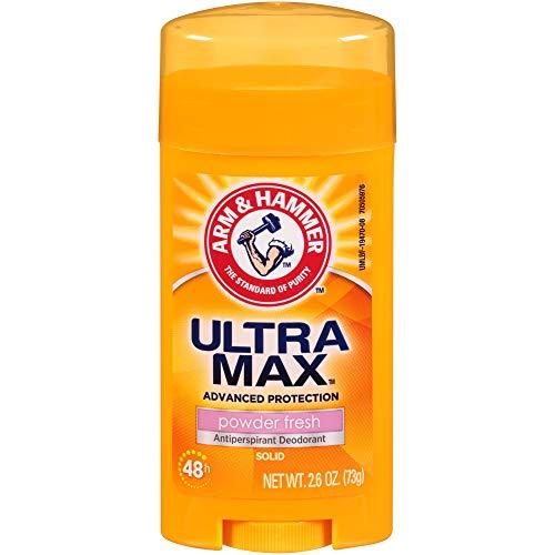 ARM & HAMMER ULTRA MAX Solid AntiPerspirant Deodorant, Powder Fresh, 2.6 oz. (Pack of 6)