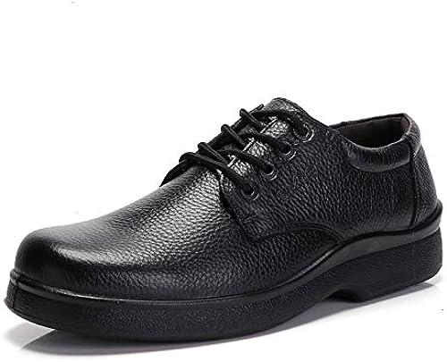 Fuxitoggo Cook Chef Chaussures Chaussures Chaussures pour Hommes Waterprooft Non Slip Chaussures de sécurité Durable Cuisine (Couleuré   Noir, Taille   EU 44) da5