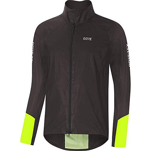 GORE Wear C5 Men's Cycling Jacket GORE-TEX SHAKEDRY, M, Black/Neon Yellow