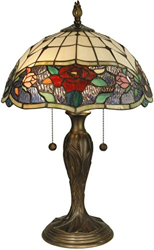Dale Tiffany TT10211 Malta Tiffany Table Lamp, Antique Bronze