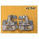 LIUWEI X2 Set Ajuste para los Clips de reparación del regulador de la Ventana BMW X5 E53 con el Control Deslizante de Metal hacia la Izquierda/Derecha 2000-2015