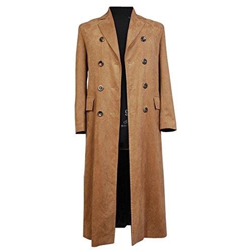 Doctor Who Dr. Brown Coat Mantel Jacke Cosplay Kostüm Herren L