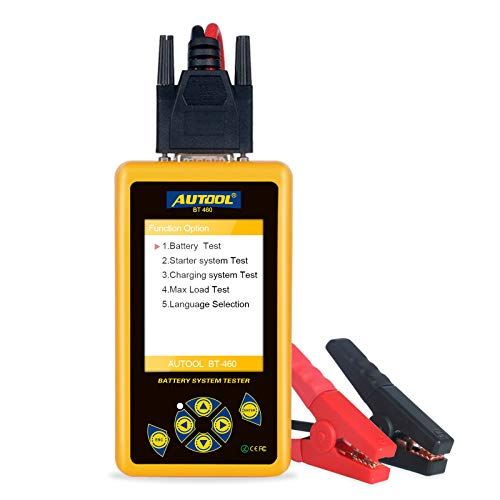 Lowest Price! AUTOOL BT460 Tester on Starter, Charging System and Battery Load Test with 100-2400 CC...