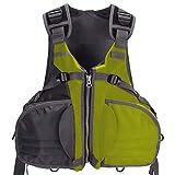 Bassdash Life Jacket Fly Fishing Vest Kayaking Float Floatation Adjustable Size for Men Women Up to 165lb