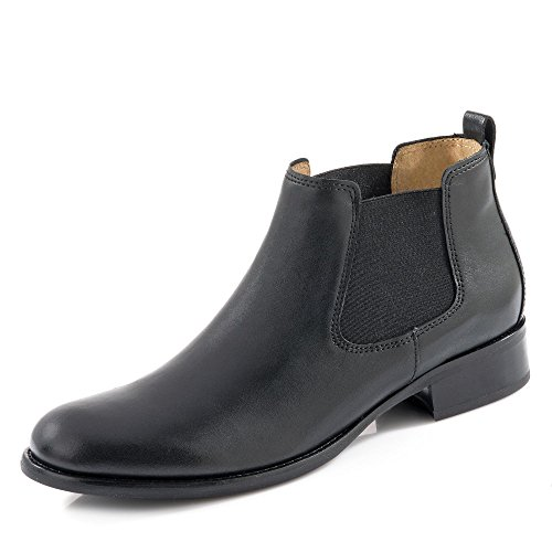 Gabor Damen Stiefeletten, Frauen Chelsea Boots,Übergrößen, Women's Woman Freizeit leger Stiefel halbstiefel Bootie flach,schwarz,37.5 EU / 4.5 UK