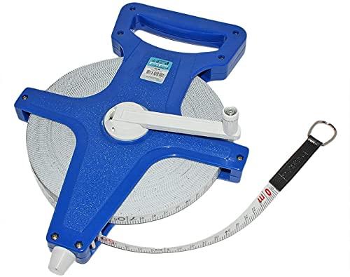 HKB® Maßband blau, Massband 50m Fiberglass Rollbandmaß Bandmaß 50773