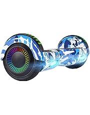 سكوتر توازن هوفر بورد، سكوتر كهربائي هوفر بورد ذاتي التوازن بعجلتين مع مكبر صوت بلوتوث ومصابيح ليد لاستخدام الكبار والاطفال والشباب في الهواء الطلق