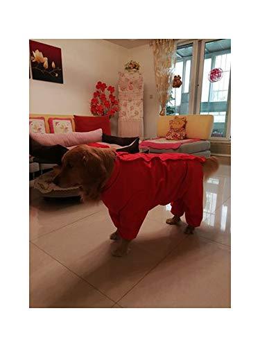 Haustier-Hund kleidet Sportkleidung wasserdichte Outdoor-Bekleidung Big Dog All Inclusive Raincoat, Rot, 14