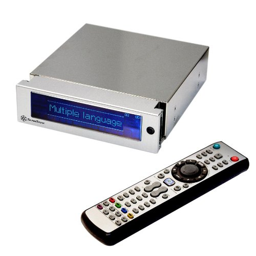 Silverstone Aluminum Front Panel 5.25-Inch Multi-Media System with LCD Display MFP51S (Silver)