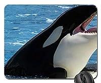 魚をテーマにしたゲーミングマウスパッド快適で滑りにくい、キラークジラ-水マウスパッド快適で滑りにくい、マウスパッド快適で滑りにくい