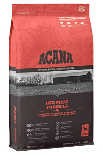 ACANA Heritage Dry Dog Food, Red Meat,...