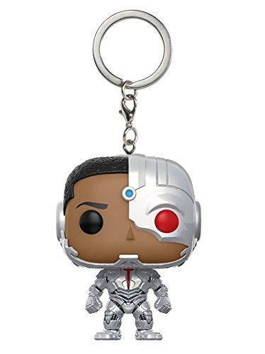 DC-Funko Keychain Llavero de Vinilo Cyborg, coleccion Justice League, Multicolor 13793