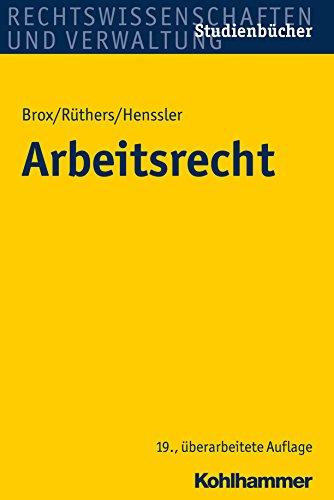 Arbeitsrecht (Studienbucher Rechtswissenschaft)