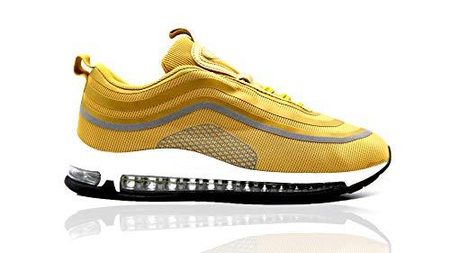 Mapleaf Zapatos Hombres Mujer Botas Running Air Deporte para Correr Zapatillas Deportivas Gold-2213-39