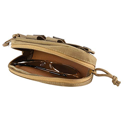 Hoseten Brillenschutzbox Brillentasche, Brillentasche, zum Wandern im Freien(Khaki)
