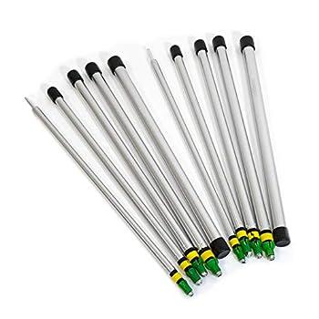 outdoorer PackSmall Tarp Poles Lot de 4 barres télescopiques en aluminium, ultra légères et compactes une fois repliées, réglables en continu