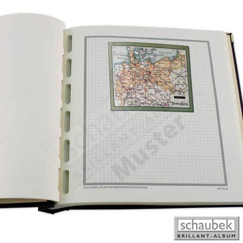 Schaubek Briefmarkengeographie Geographie-Titelblatt in Farbe - Deutschland DE-TB