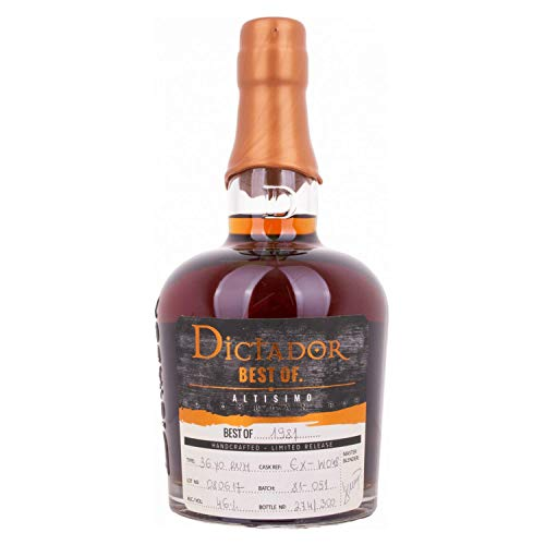 Photo of Dictador BEST OF 1981 ALTISIMO Colombian Rum Limited Release 46,00% 0,70 Liter