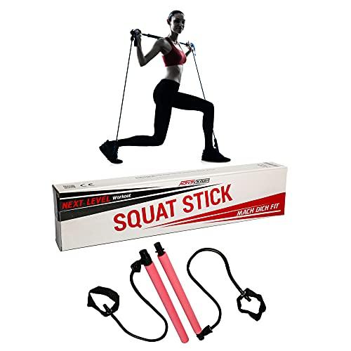 ActiveVikings Squat Stick – Ideal para fitness yoga y pilates – Entrenamiento efectivo de todo el cuerpo con una sensación superelástica