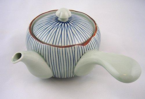 Japan Teekanne TOKUSA Blau japanische Kanne inkl. Sieb Porzellan Einhandkanne hergestellt in Japan 600ml