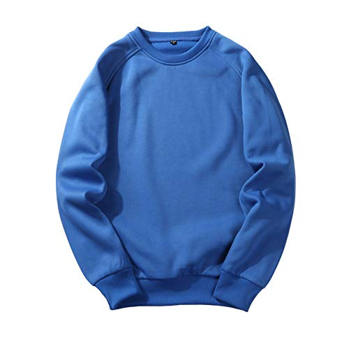 YZANYFQH Herbst/Winter Herrenhemd Herrenrundpullover Lockerer Einfarbiger Pullover