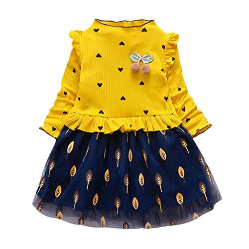 Weant 2PCS Bekleidungssets Mädchen Kleidung Set,Sommer Outfit Set Ärmellos Tupfen Drucken T-Shirt Tops Hemd+Bowknot Kurze Hosen Baby Tägliche Kleidung Pullover