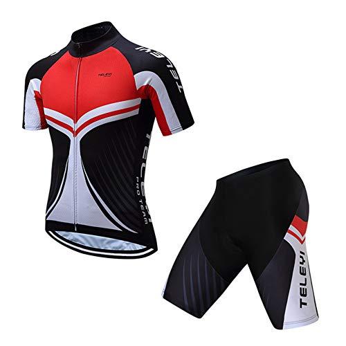 Lozse fietsshirt voor heren, fietspakken, MTB-uniform fietspakken, ademende fietspakken, korte bib shorts voor heren