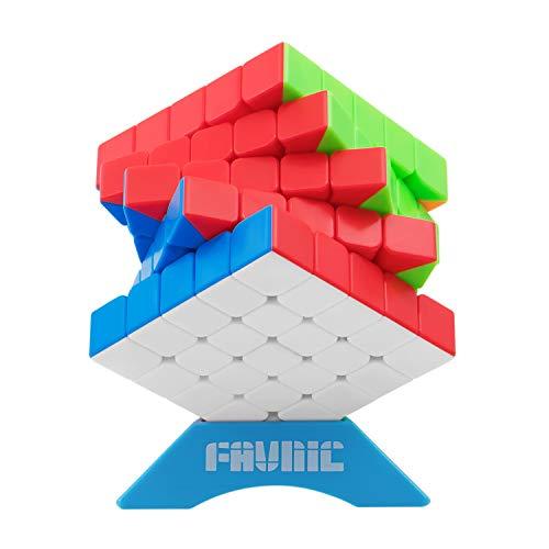 FAVNIC Cubo de Velocidad, Cubless Cubo de Mágico Speed Cubo de Mágico Puzzle para niños y Adultos (5x5)