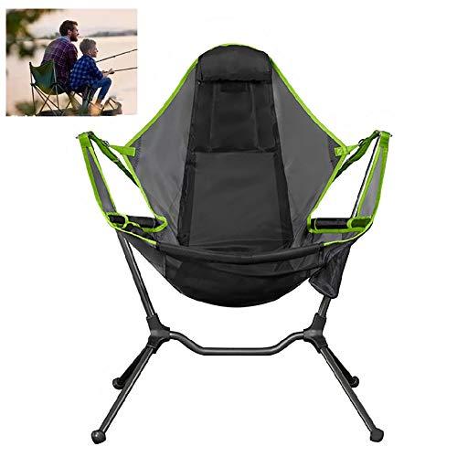 CATLXC Silla de Playa Que acampa Plegable Silla de oscilación Simple Ocio Inicio Columpio de Viaje para sillas de aleación de Aluminio de heces