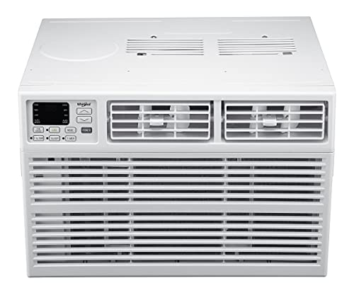 Whirlpool Energy Star 15,000 BTU 115V Window-Mounted Air Conditioner with Remote Control, White