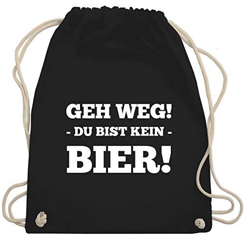 Shirtracer Festival Turnbeutel - Geh Weg! Du bist kein Bier! - Unisize - Schwarz - it rucksack - WM110 - Turnbeutel und Stoffbeutel aus Baumwolle