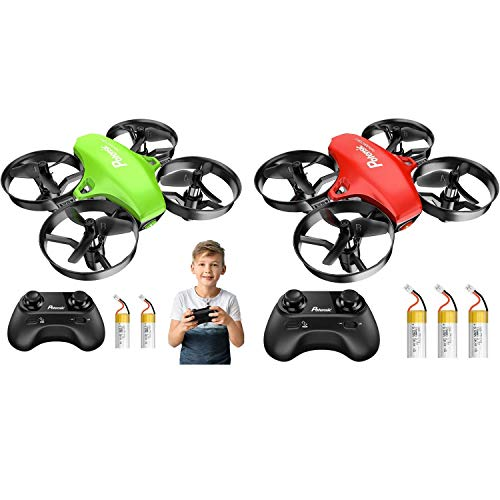 Potensic Mini Drone - A20 Green with 2 Batteries and A20 Red with 3 Batteries
