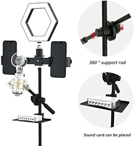 USB-microfoon, live-uitzendapparatuur Volledige set ankers Externe geluidskaartenset Condensatormicrofoon Mobiele telefoon Computer, omroep, opname