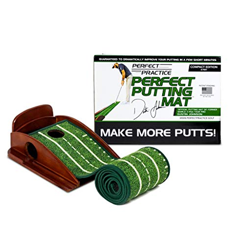 PERFECT PRACTICE Perfect Putting Mat - Official Putting Mat of Dustin Johnson