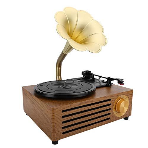 Xuzuyic Giradischi in Vinile 33/45/78 RPM, Giradischi retrò, Giradischi Bluetooth Vintage, impianto...